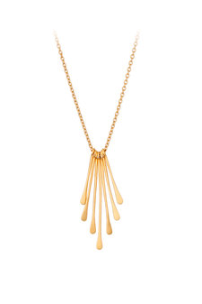 Pernille Corydon - Waterfall Necklace Goldplated Silver