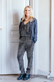 Second Female - Emel Jumpsuit Black/Offwhite