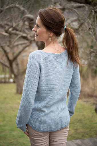 Pulz - Anouk Knitted Blouse Powder Blue