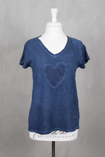Pieszak - Bianca Heart Tee Midnight blue