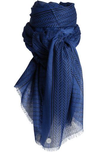 Stylesnob - Crisp Scarf Blue