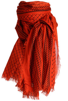 Stylesnob - Crisp Scarf Lobster Red