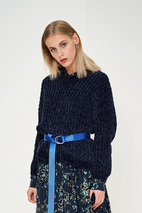 Denim Hunter - Issa Knit Pullover Sky Captain Chenill