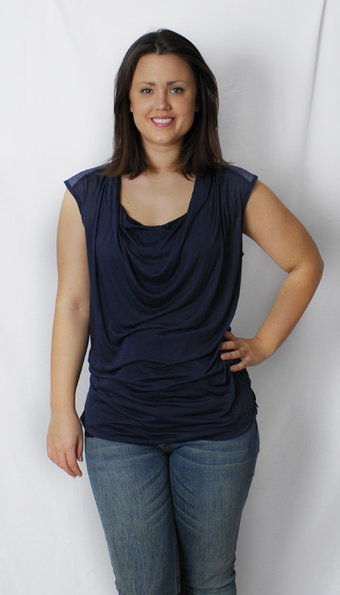 Pulz Jeans - Top Ebe Wing Midnight Blue