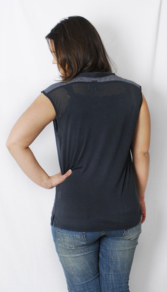 Pulz Jeans - Top Ebe Wing Thunder grey