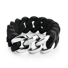 The Rubz - Bracelet Iconic Black / Silver