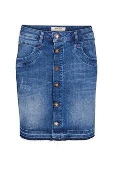 Mos Mosh - Vicky Flamingo Skirt Blue Denim