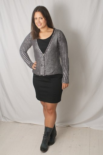 Pulz Jeans - Natalie Cardigan Silver