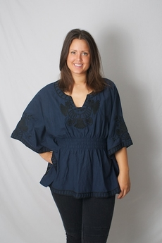 Andersen & Lauth - Tarina Tunic Navy Black 50% REA