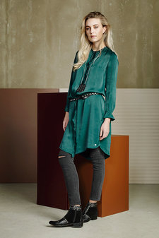 Plus Fine - Alisa Dress Pine Green