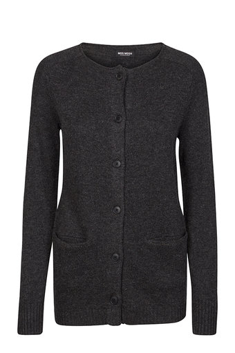 Mos Mosh - Hoi Cardigan SoftDark Grey