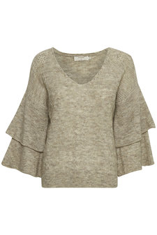 Cream - Penelope Knit Pullover Oat Melange