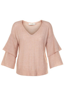 Cream - Penelope Knit Pullover Rose Dust
