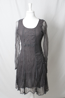 Cream - Francisca Dress Graphite Grey 50% REA