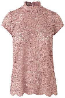 Rosemunde - Lace T-shirt ss Misty Rose