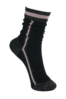 Black Colour - Sporty Stripe Sock Black