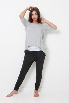 Comfy Copenhagen - Straight from the Heart 3/4 sleeve Light Grey Melange