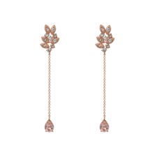 Lily and Rose - Miss Laurel Earrings Light Silk