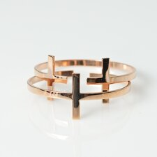 B.Loved - Cross Bracelet Rose Gold