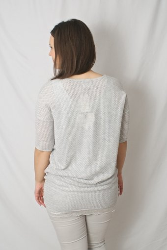 by Ti Mo - Crochet Oversized Light Grey Melange