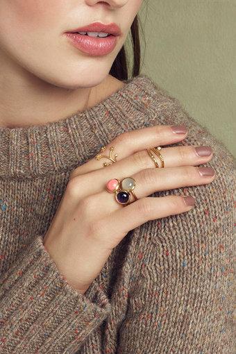 Pernille Corydon - Aura Grey Moonstone Ring Gold