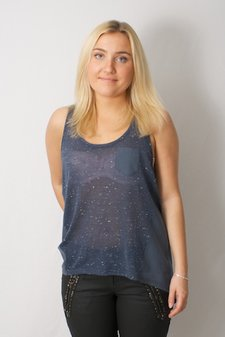 kaffe - Clarissa tank top Grey Blue