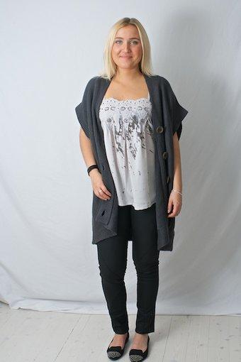 Pulz Jeans - Mya wide knit cardigan Dark Night Melange