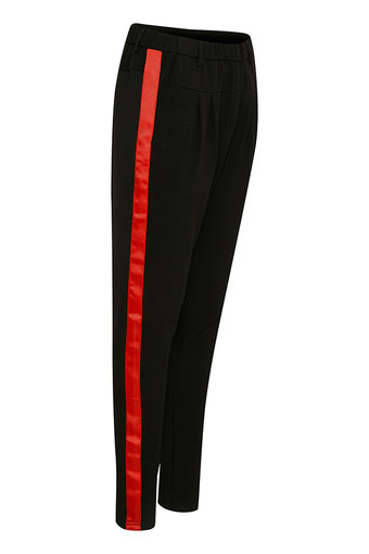 Culture - Sarah Pant Black w red stripe