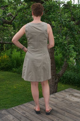 Cream - Sassy Pinafore Dress Dark Sand