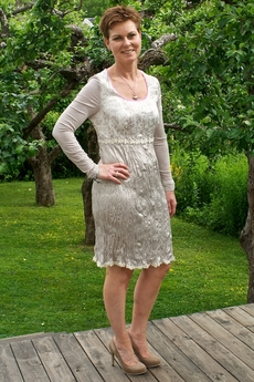 Cream - Deleliah Dress Grey