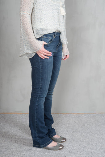 Monrow - Rikki Trousers Stone Wash Denim