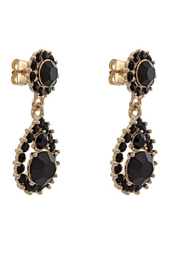 Lily and Rose - Sofia Earrings Jet Jet Gold