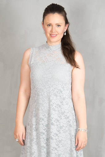 Rosemunde - Dress Lace Cement grey
