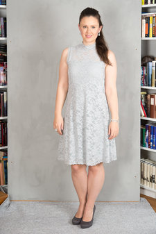 Rosemunde - Dress Lace Cement grey