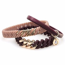 The Rubz - Bracelet Nano Cameo-Burgundy / Rose gold