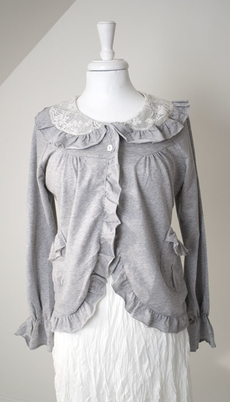 Design Werk of Sweden - Cardigan Disa Grey Melange 50 % REA