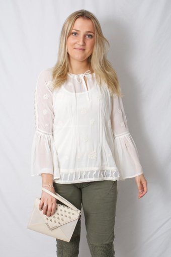 Cream - Trudy Blouse Warm offwhite