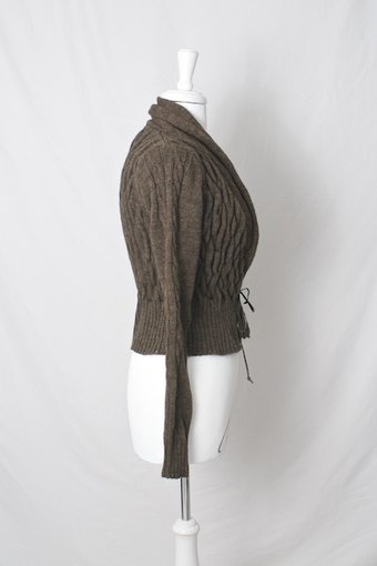Culture - Silane Cardigan Brown Stone Melange