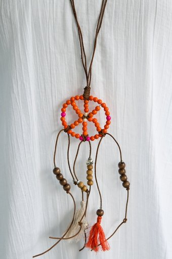 GOODHABIT - Necklace Dreamcatcher Orange