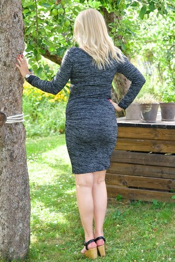 Second Female - Abbey Sleeve Dress Grey Melange