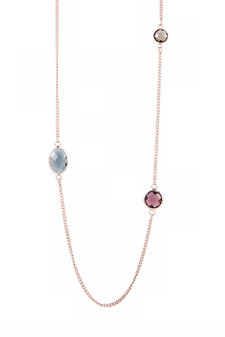 VÅGA - Gwen Necklace Bordeaux / Rosegold