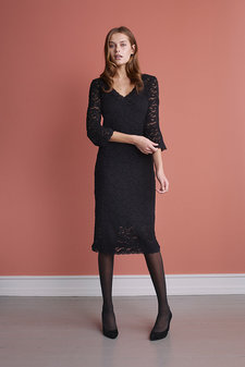 Rosemunde - Dress Lace 3/4 s Black
