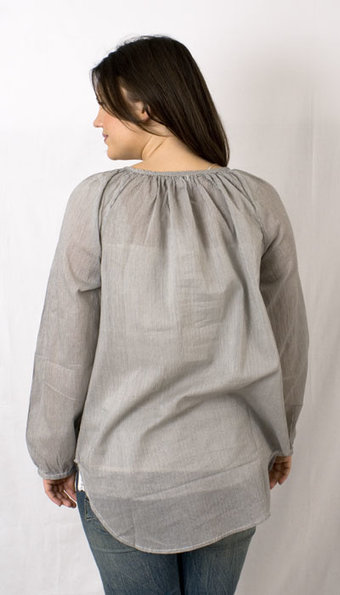 kaffe - Amber Striped tunic Iron Grey