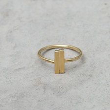 Orelia - Open Bar Ring Gold