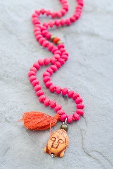 GOODHABIT - Necklace Buddha Neon Pink