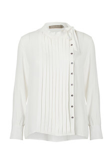 Plus Fine - Kitti  Bow Tie Shirt Ecru