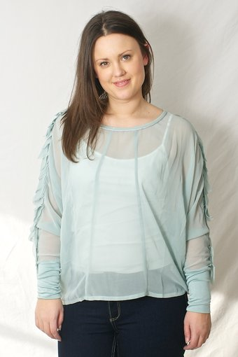 Culture - Buck Blouse Aqua Mist