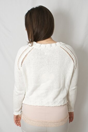 by Ti Mo - Pointelle Sweater Offwhite