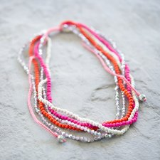 GOODHABIT - Necklace Pink Orange White Mix