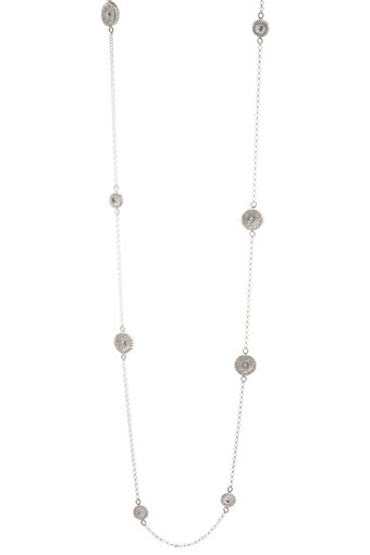 ag by Annika Gustavsson - Halsband Fossil Silver Långt